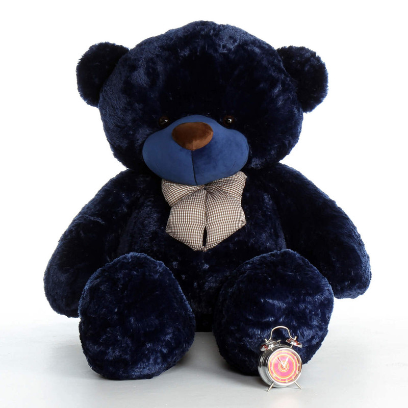 6ft Navy Blue Royce Cuddles Soft and Cuddly Giant Teddy Bear
