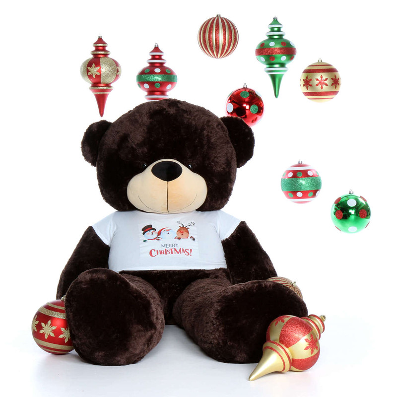72in Life Size Brown Teddy Bear Brownie Cuddles Merry Christmas