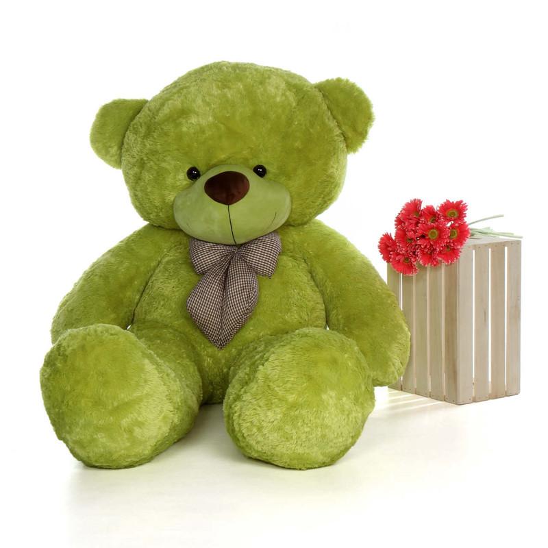 6ft Lime Green Huge Teddy Bear Ace Cuddles