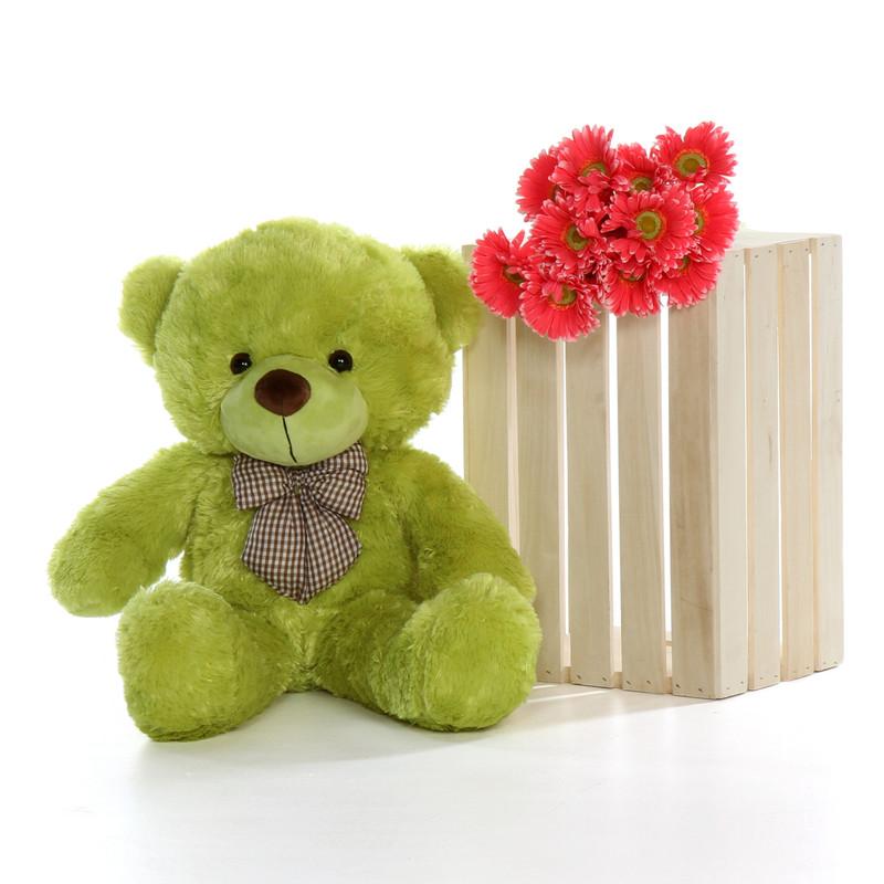 30in Ace Cuddles Rare Lime Green Teddy Bear
