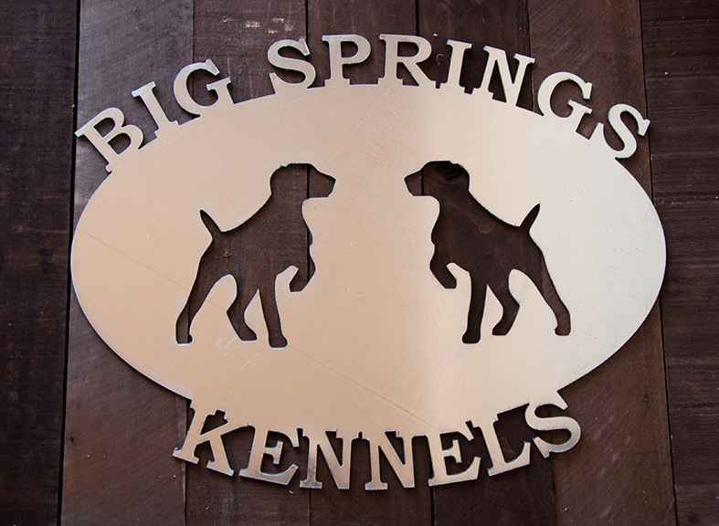 Oval Metal Sign Custom Kennel Sign