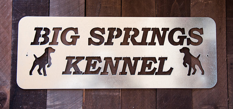 Rectangle Metal Kennel Sign