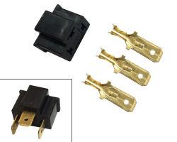 Male Headlight Plug Kit - Plastic