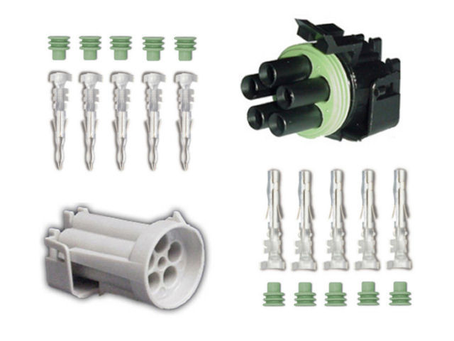 Weather Pack 5 Pin Sealed Wiring Connector Kit - HiPo Parts Garage on square pin weather pack connectors, weather pack fittings, weather pack plugs, weather pack tools, weather pack terminal connectors, weather pack sockets,