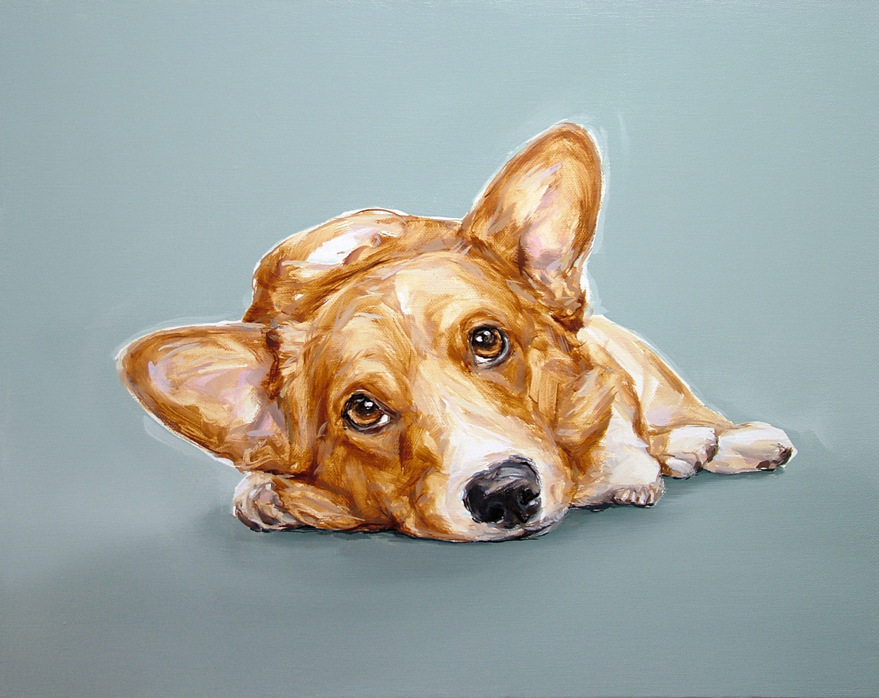 Corgi Study Limited Edition Print by Justine Osborne at ...