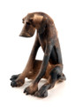 Doleful Seated Dog by Virginia Dowe Edwards