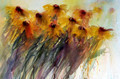 Bring Me Sunshine -  Rudbeckia Floral Study in Watercolour by Jean Haines