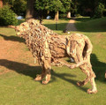 King of the Pride, a Lifesized Driftwood Sculpture by James Doran Webb