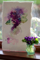 Violet Posy -  Floral Study in Watercolour by Jean Haines