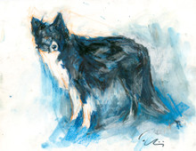 Watch - one of the Snowhenge Series of Prints sold in aid of the Manchester Dogs Home