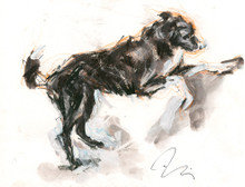 Dig - one of the Snowhenge Series of Prints sold in aid of the Manchester Dogs Home