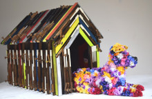 The Dog House by Robert Bradford.  Please note that 'Fleur the Flower Dog' is shown as an example only.  She is available to purchase separately