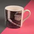 The Sunny Spot - Off the Leash' Creamware Mug by Rupert Fawcett