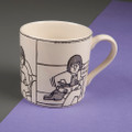 Hello It's Me! - Off the Leash' Creamware Mug by Rupert Fawcett