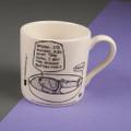 Groan...Set the Alarm for Friday - Off the Leash' Creamware Mug by Rupert Fawcett