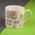 After Obedience Classes - Off the Leash' Creamware Mug by Rupert Fawcett
