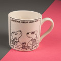 Girls' Night Out - Off the Leash' Creamware Mug by Rupert Fawcett