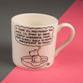 I'm Going to Pace Myself this Week - Creamware Mug by Rupert Fawcett