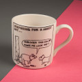Does This Collar Make Me Look Fat? - Creamware Mug by Rupert Fawcett