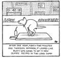 The Long Dump -  'Off the Leash' print by Rupert Fawcett