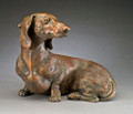 So Good to See You - Bronze Dachshund Sculpture by Joy Beckner