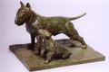 English Bull Terrier Bronze Sculpture by Eskandar Magzub