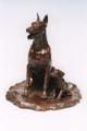 Doberman Bronze Sculpture by Eskandar Magzub