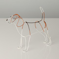 Wire Sculpture of Beagle by Bridget Baker