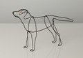 Wire Sculpture of Black Labrador by Bridget Baker