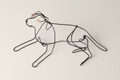 Wire Sculpture of Reclining Labrador by Bridget Baker