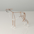 Wire Sculpture of Brindle Whippet by Bridget Baker