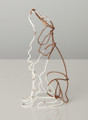 Wire Sculpture of Brown Border Collie by Bridget Baker