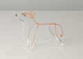Wire Sculpture of Corgi by Bridget Baker