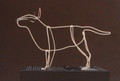 Wire Sculpture of English Bull Terrier by Bridget Baker
