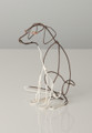 Wire Sculpture of Terrier by Bridget Baker