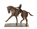 Extended Trot Dressage Sculpture by Marie Ackers