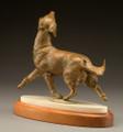 Lives to Please - Bronze Golden Retreiver Sculpture by Joy Beckner