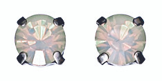 Pilgrim White Opal Swarovski Crystal Stud Earrings Silver Plated