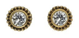 Pilgrim Gold Plated Earring Crystal