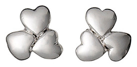 Pilgrim Silver Plated Heart Cluster Stud Earrings