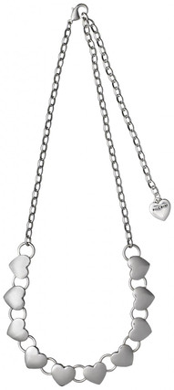 Pilgrim Heart Necklace Silver Plated