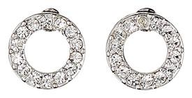 Pilgrim Silver Plated Crystal Stud Earrings