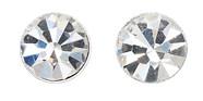 Pilgrim Swarovski Silver Plated Stud Earrings Crystal