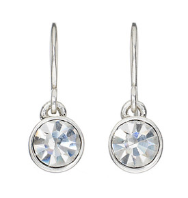 Pilgrim Silver Plated Crystal Drop Earrings