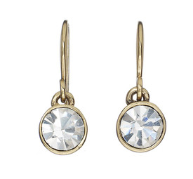 Pilgrim Gold Plated Earring Crystal