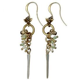Pilgrim Summer Stories Drop Earrings Gold Plated Mint 21132-2413