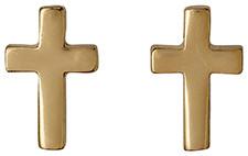 Pilgrim Faith Gold Cross Stud Earrings 14133-2013