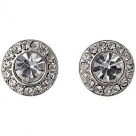 Pilgrim Stud Earrings Silver Plated Crystal 60133-6063