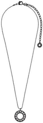 Pilgrim Necklace Hematite Plated 60133-3111