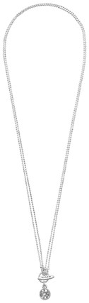 Pilgrim Charm Necklace Crystal Silver Plated 45cm 40121-9004
